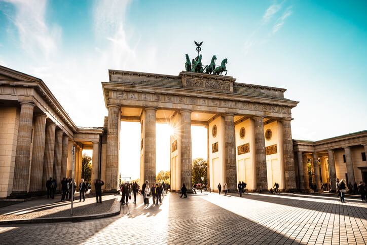 Brandenburg Gate i Berlin